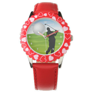 Golf Ball Coming at You Wrist Watch
