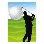 Golf Ball Coming at You 13 Cm X 18 Cm Invitation Card