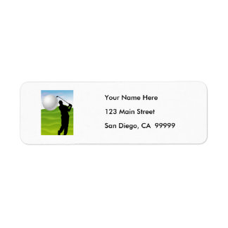 Golf Ball Coming at You Return Address Label