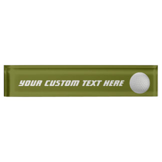Golf Ball custom desk nameplate
