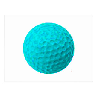 Golf Ball Cyan The MUSEUM Zazzle Gifts Post Cards