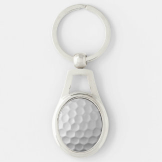 Golf Ball Dimples Texture Pattern Key Ring