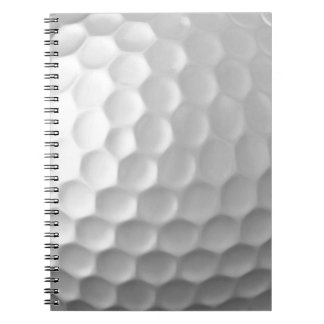 Golf Ball Dimples Texture Pattern Notebooks