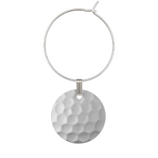 Golf Ball Dimples Texture Pattern Wine Charm