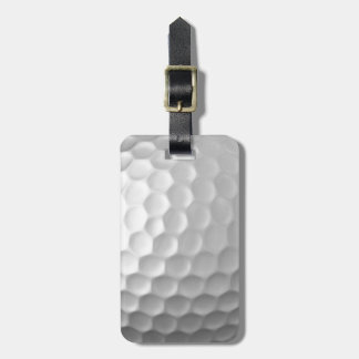 Golf Ball Dimples Texture Pattern with name Bag Tag