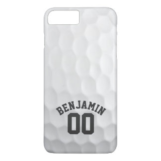 Golf Ball Dimples with Custom Name Number iPhone 8 Plus/7 Plus Case