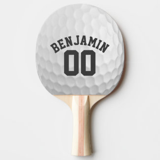 Golf Ball Dimples with Custom Name Number Ping Pong Paddle