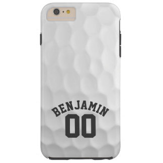 Golf Ball Dimples with Custom Name Number Tough iPhone 6 Plus Case