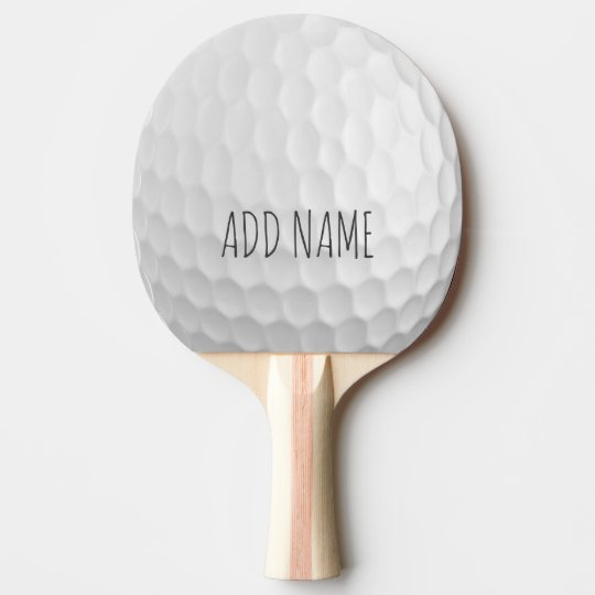 Golf Ball Dimples with Custom Name Ping Pong