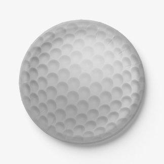 Golf Ball Golfing Summer BBQ Picnic Paper Plates
