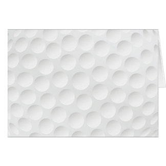 golf ball greeting card