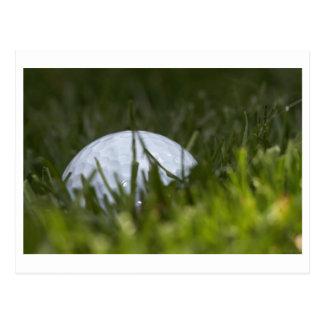 golf ball hiding postcard
