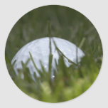 golf ball hiding round sticker