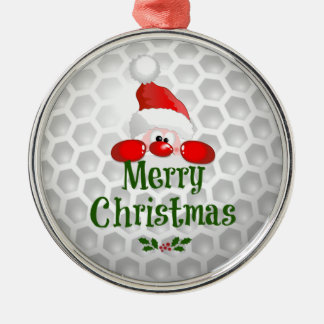 Golf Ball Holiday Design, Merry Christmas Christmas Ornament