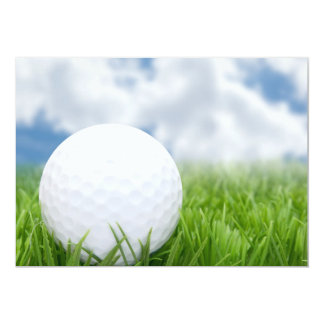 Golf Ball In Grass And Sky 13 Cm X 18 Cm Invitation Card