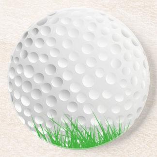 Golf ball in Grass Coaster