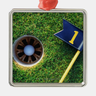 golf ball in hole christmas ornament