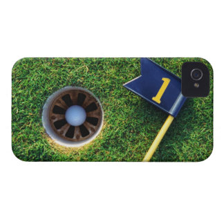 golf ball in hole iPhone 4 cases