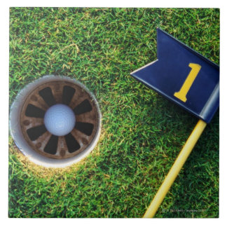 golf ball in hole tile