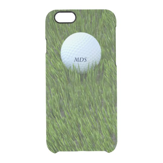 Golf Ball in the Rough Personalised Clear iPhone