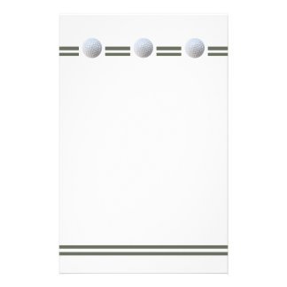Golf Ball in Triplicate Stationery Design