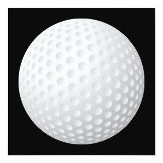 """Golf Ball Invitation 5.25"""" Square Invitation Card"""