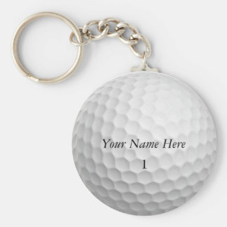 Golf Ball Keychain Customize it with YOUR NAME