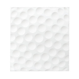 golf ball memo notepads