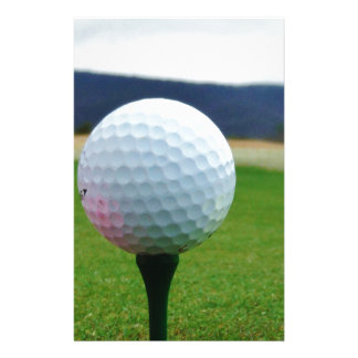 Golf Ball on a mountain golf course Stationery