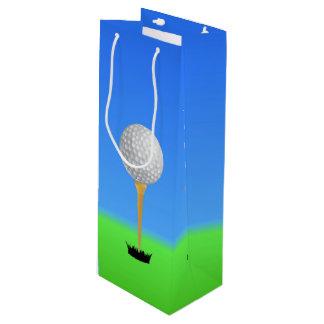 Golf Ball on a Tee Wine Gift Bag