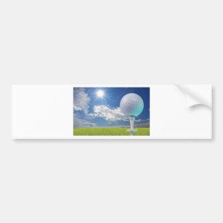 golf ball on a tee with grass bumper sticker