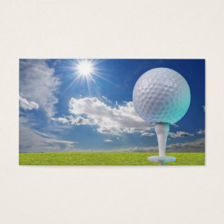 golf ball on a tee with grass business card
