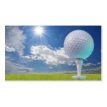 golf ball on a tee with grass business card templates