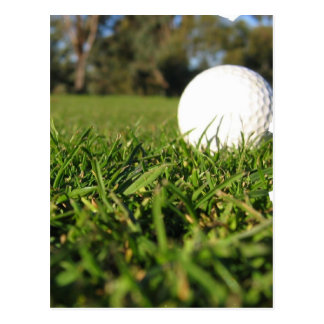 Golf Ball on Golf Course Postcard