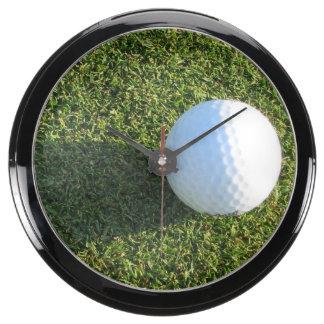 Golf Ball on Golf Green Aquavista Clock