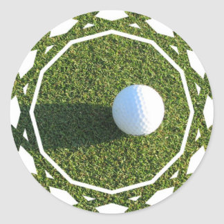 Golf Ball on Golf Green Stickers