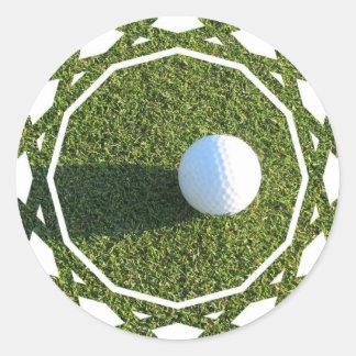 Golf Ball on Golf Green Stickers