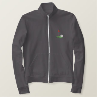 Golf Ball On Green Embroidered Jacket