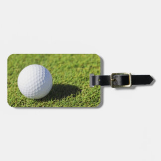 Golf Ball On Green Grass Course - Customized Luggage Tag