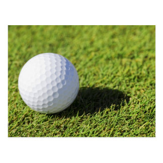 Golf Ball On Green Grass Course - Customized Postcard