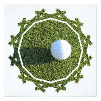 Golf Ball on Green Invitation