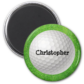 Golf Ball on Green Magnet