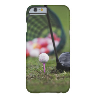 Golf ball on tee beside golf club barely there iPhone 6 case