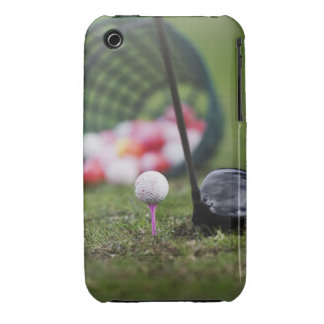 Golf ball on tee beside golf club Case-Mate iPhone 3 cases