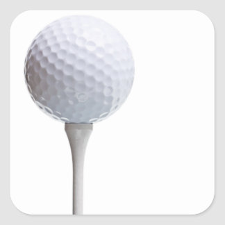 Golf Ball on Tee- Customized Square Sticker