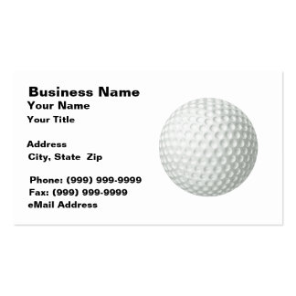 Golf Ball (on White BG) Business Card