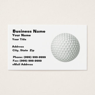 Golf Ball (on White BG) Business Card