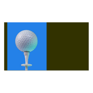 golf ball on white tee business card template