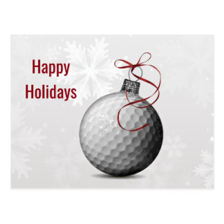 golf ball ornament Holiday Cards