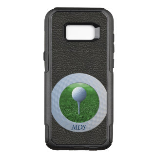 Golf Ball Otterbox Photo Frame Monogram OtterBox Commuter Samsung Galaxy S8+ Case